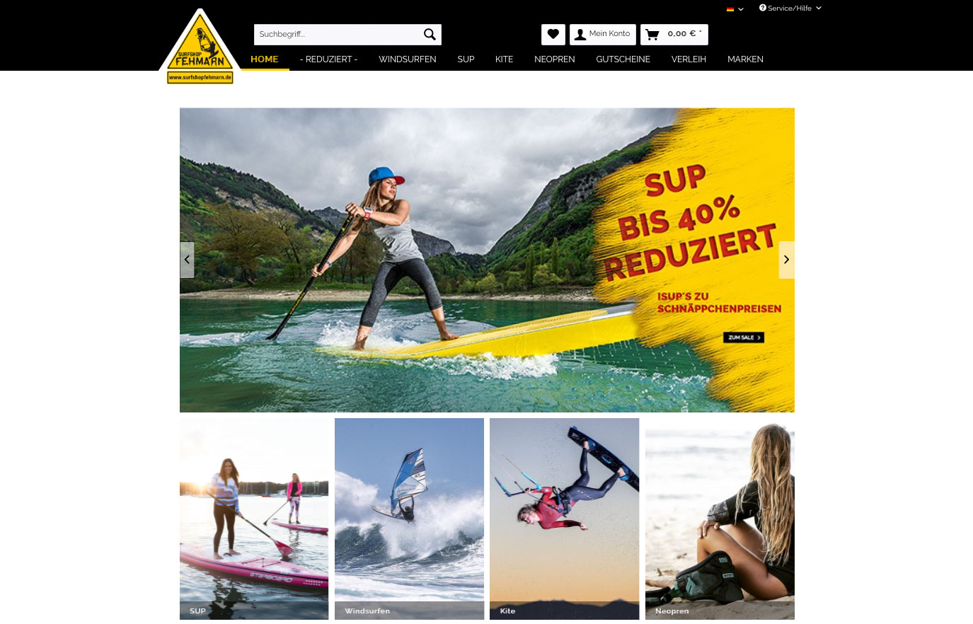 SUP Fehmarn Stand up paddling - SUP Board Kaufen im Onlineshop