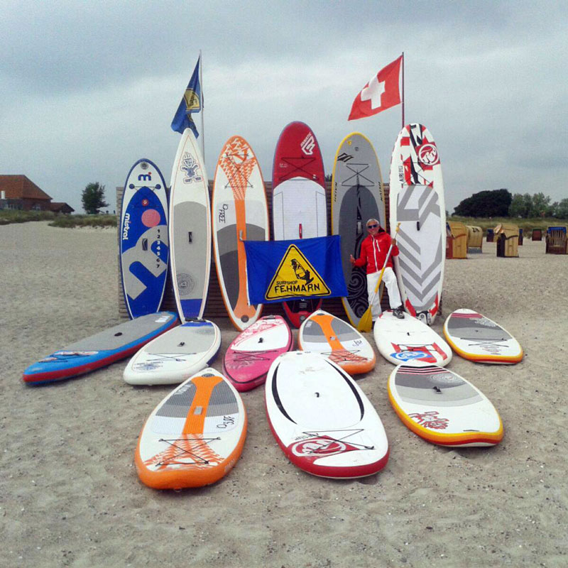 Stand up paddling Südstrand